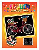 Mammut 8031716 - Sequin Art Orange Fahrrad, ca. 36 x 27 cm