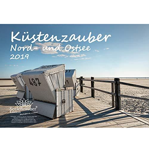Küstenzauber Nord- und Ostsee · DIN A4 · Premium Kalender 2019 · Küste · Freizeit · Urlaub · Nordsee · Ostsee · Geschenk-Set mit 1 Grußkarte und 1 Weihnachtskarte · Edition Seelenzauber (Urlaub Geschenk-sets)