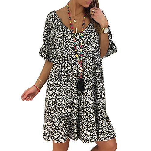 4407a9e8e Vestido de Gasa Floral de Verano para Mujer Vestidos de Verano Vestidos de  Fiesta de Playa