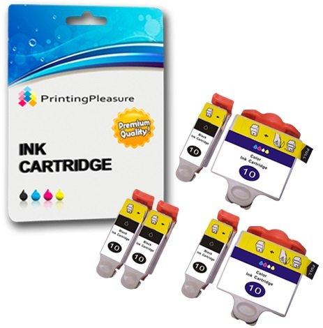 6 XL Druckerpatronen für Kodak ESP 3 ESP 5 ESP 7 ESP 9 ESP 3250 ESP 5210 ESP 5250 ESP 7250 ESP 9250 ESP Office 6150 Hero 6.1 Hero 7.1 Hero 9.1 | kompatibel zu Kodak 10B, 10C - Drucker 3250 Tinte Kodak