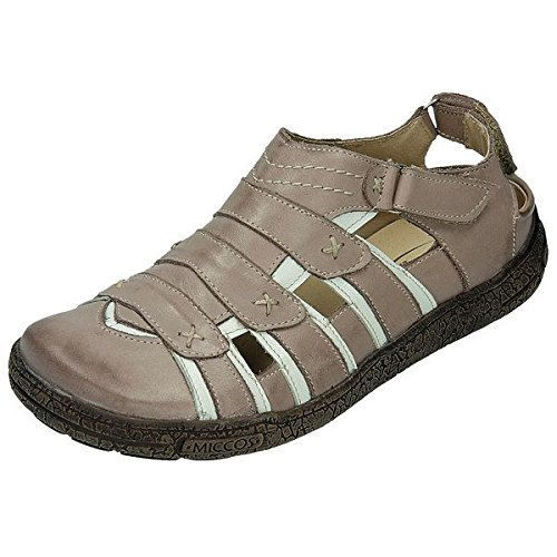 Sportif 200689 miccos shoes chaussures pour femme Marron - capuccino/weiss
