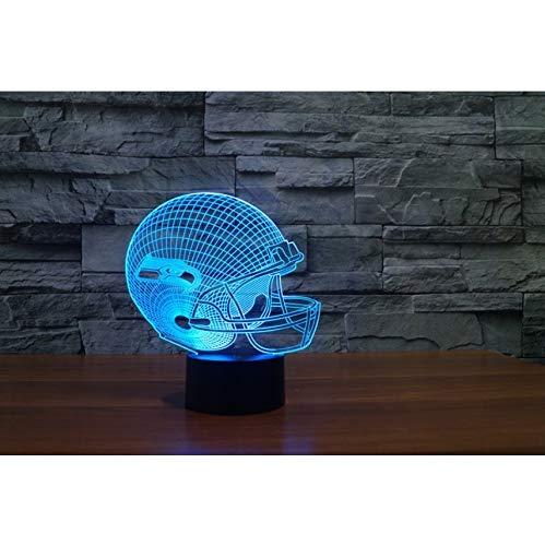 Effekt des Seattle Seahawks-Modellsturzhelms 3D beleuchten helle Dekorationsgeschenke