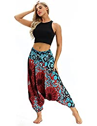 Ode Joy Boho Harem Pantaloni -Pantaloni Larghi di Yoga Allentati Estate  delle Donne Pantaloni della Tuta 1fcca8c93ff1