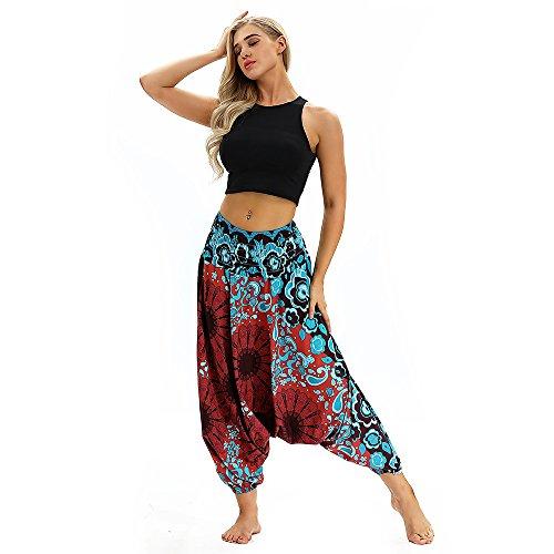 e Frauen Hose Harem Pants Yoga Festival Baggy Boho Trouser Retro Gypsy Pants Free Size ()