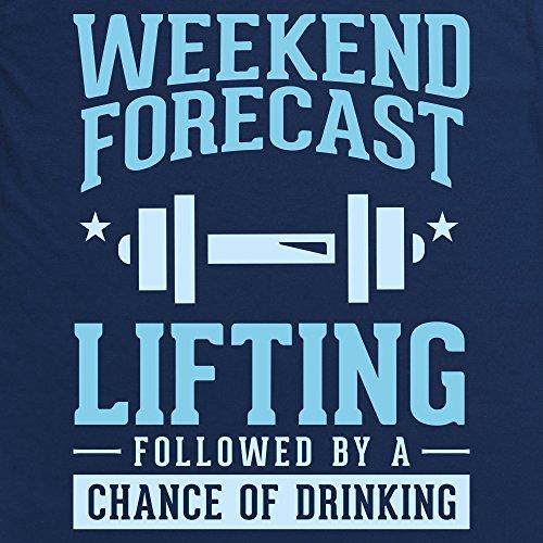 Weekend Forecast Lifting Langarmshirt Funny Novelty Gift, Herren Dunkelblau