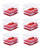 """6x Aufbewahrungsboxen """"Clear Box"""" mit 18 Litern, 40,0 x 33,5 x 17,0 cm - transparent - stapelbar - Kunststoff/Plastik"""