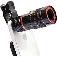 Teleobjetivo para teléfono móvil Cámara Foto Externo Zoom Clip 8X Negro 1pcs