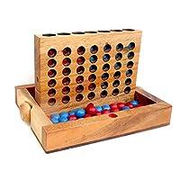 Logica-Spiele-Art-VIER-GEWINNT-Spiel-aus-Holz-wiederverschliebare-Version-fr-Reisende