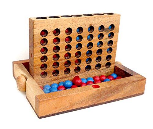 Logica-Giochi-art-4-EN-RAYA–Juego-de-mesa-plegable-de-madera-de-Teca