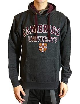 Sudadera con capucha oficial de la universidad de Cambridge - carbón de leña - ropa oficial de la universidad...