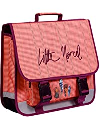 Clairefontaine Little Marcel School Bag With 3 Compartments, 41 X 14 X 34 cm - Feathers School Set, 41 cm, Multicoloured