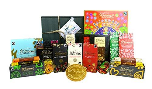 The Ultimate Divine Fairtrade Christmas Hamper - 2017 Xmas Chocolate including Advent Calendar - Includes Christmas Gift Box & Tag!
