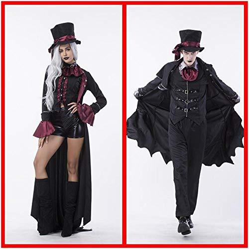 Olydmsky Costumi da Donna di Halloween Paio di Halloween Cosplay Cosplay Costume Vampiro Coppia Vestire