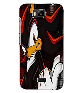 ColourCraft Angry Cat Design Back Case Cover for HUAWEI HONOR BEE