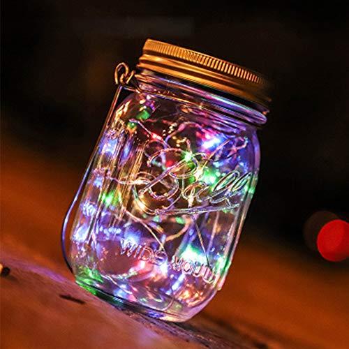 Pinzhi Solar Firefly Lichter für Garten Party Hochzeit Weihnachtsdekoration (Farbe4)