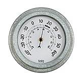 CKB Ltd® Vintage Outdoor Wall Garden Thermometer Gartenthermometer| Innen - und Außenbereich mit wetterfestem verzinktem Stahl | Traditionelle Anzeige Galvanisierter Stahl