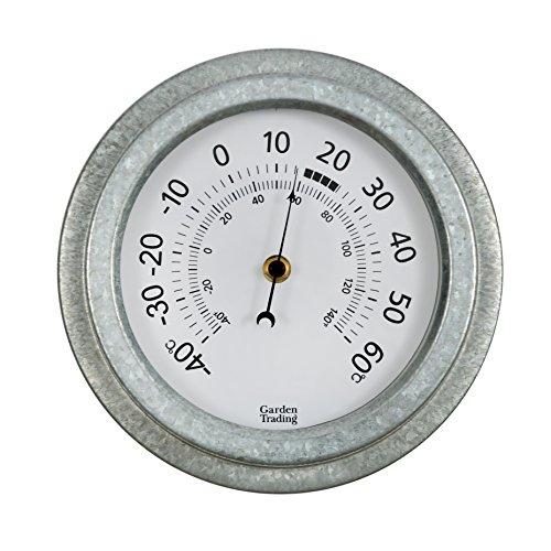 CKB Ltd® Vintage da Parete per Esterni Giardino termometro | per Interni ed Esterni Realizzati con Impermeabili in Acciaio zincato | Tradizionale quadrante Display