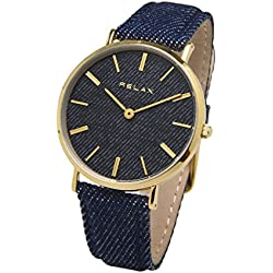 Relax Nîmes Damen Armband Armbanduhr 36mm gold