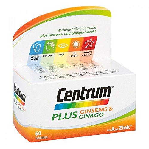 Centrum Plus Ginseng & Ginkgo Tabletten 60 stk (Flüssigkeit Ginkgo Biloba-extrakt)