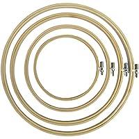 JYCRA 10 St/ück Stickrahmen Set Holz Kreuzstich Ring f/ür DIY Kunst Handwerk Handwerk 10 cm Bambus-Stickerei-Ring rund