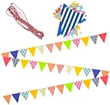 Best Party Decorations - AMFIN® Party Bunting Flags Banner for Birthday Decoration Review