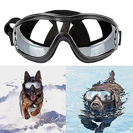 Freyamall Haustier Sonnenbrille Hund Hündchen UV Brille Augenschutz, wasserdichte und Winddichte Sonnenbrille mit…