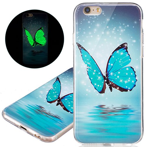 ISAKEN Custodia iPhone 6 - Cover iPhone 6S - Fashion Agganciabile Luminosa Cover Case con LED Lampeggiante per Apple iPhone 6(4.7