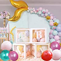 20 pcs party Decorations propose marriage box Fairy Lights for Wedding/Birthday party/Travel Themed Party/Bridal Shower Christmas Decoration with 8 balloon 4 letter 4 Fairy Lights 4 box