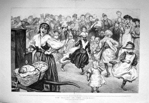 Vicolo 1894 di Drury dei Bambini dei Ballerini di Balletto Paul Renouard