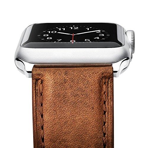 Preisvergleich Produktbild Benuo für Apple Watch 42mm Armband Serie 3,  Benuo Apple Watch,  Premium Genuine Lederarmband,  Gilt für iWatch Series 1 / 2 / 3 (42mm,  Braun)