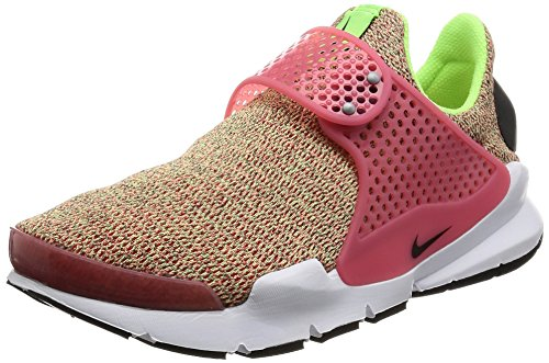 Nike Womens Sock Dart SE Running Shoes Ghost Green/Hot Punch/White 862412-301 Size 10 (Darts Ghost)