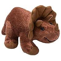 HollyHOME Plush Dinosaur Baby Stuffed Animal Toy Kids Gift 11 inches Multi HYHHT-DSR11-BRN