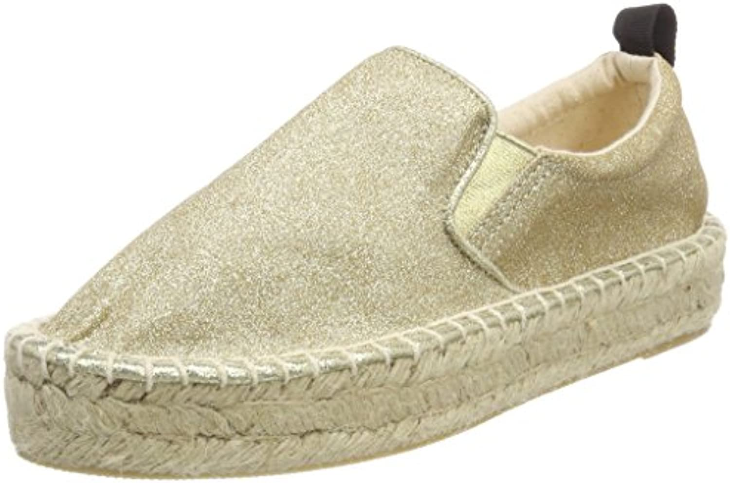 Colours of California Damen Espadrille Double Sole in Microglitter