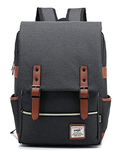 freemaster Vintage Casual Unisex Zaino Scuola Borsa Da Viaggio Zaino Daypack Tablet Borse, Black (rosa) - UKBB0006
