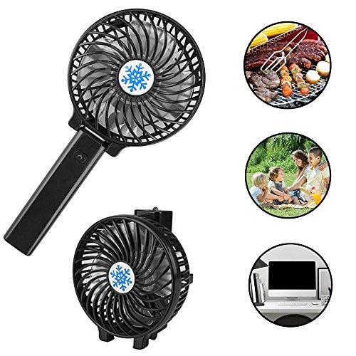 Electricidad portátil Cocción Ventilador de barbacoa, Ventilador de parrilla, Ventilador recargable de...