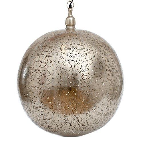 Emporio Arts New Lampe à suspension Ballon Rond avec trous Or Etching, fer, Nickel, à l'intérieur, E27, 60 watts