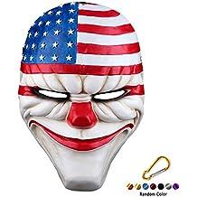 SYMTOP Máscara de Halloween Resina Dallas Heist Payaso Joker Cosplay  Complementos Disfraz 1c4dd726a86f