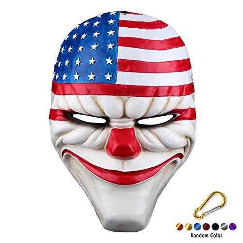 SYMTOP Halloween Party Maske Props Requisit Kostüm Heist Dallas Joker Requisite Cosplay Clown Horror Gesichtsmaske (Payday 2 Cosplay Kostüm)