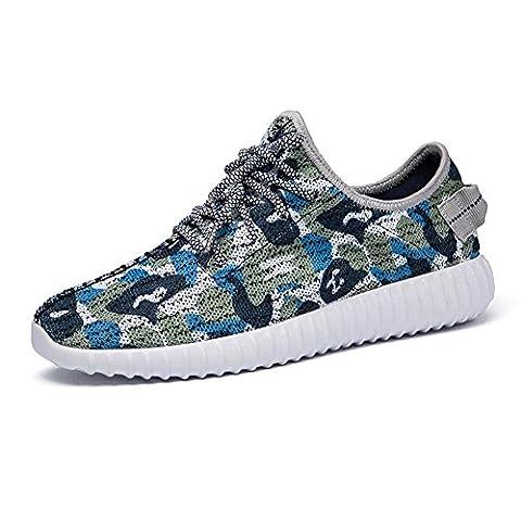 Mens / Boys Camouflage Mesh Sneaker Sommer und Herbst Lässige Sportschuhe Breathable und Lightweight , blue ,