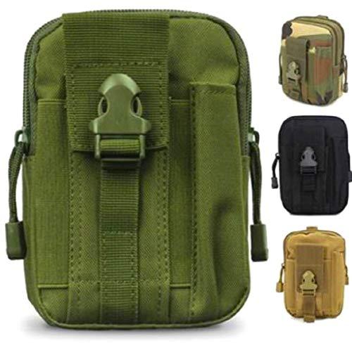 Front-tasche Geldbörse (SMART Front® Taktische Hüfttasche, multifunktionale Tasche für Gürtel und Rucksäcke aus Nylon mit Karabiner, Kompakt Molle Tasche Reißverschluss EDC Outdoor Aufbewahrung: Smartphone, Schlüssel, etc.)
