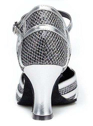 TDA ,  Damen Durchgängies Plateau Sandalen mit Keilabsatz 7cm Heel Black