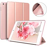 ZOYU 9.7 iPad case for 2017/2018,Ultra Slim Lightweight Smart Case Soft Silicone Cover Stand with Auto Sleep/Wake for iPad 9.7 iPad 5th/6th Generation (rose gold)