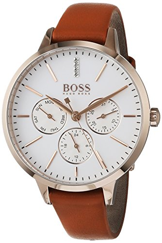 Hugo BOSS Unisex-Adult Multi dial Quartz Watch with Leather Strap 1502420