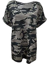 Fast Fashion - Jambières Plus La Taille Camouflage Armée Impression - Femmes