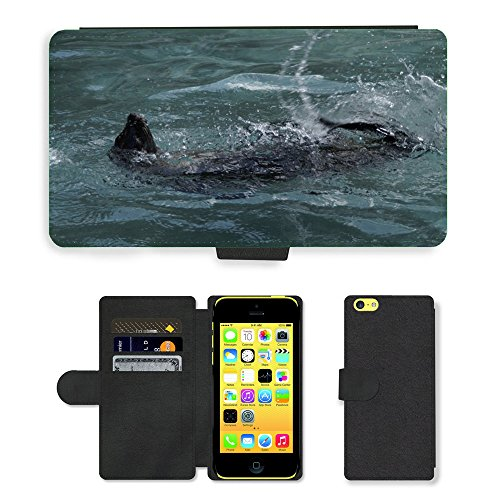 Just Mobile pour Hot Style Téléphone portable étui portefeuille en cuir PU avec fente pour carte//m00140190Joint d'étanchéité Pataugeoire dos crawlé//Apple iPhone 5C