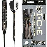 HARROWS schwarz I.C.E Darts-Soft Spitze-Barrel Gewicht 16,5g-Arctic 18g-mit...