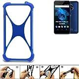 K-S-Trade Bumper für Allview X4 Soul Vision Silikon Schutz Hülle Handyhülle Silikoncase Softcase Cover Case Stoßschutz, blau (1x)