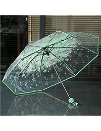 Lluvia Paraguas Compacto Resistente al Viento, igemy transparente paraguas Cherry Blossom seta Apollo Sakura 3
