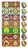 Ukrainisches-Kunsthandwerk, Ostereier Schrumpffolie. Ukrainische Kirchenturem. Nr.7 reicht für 7 Eier