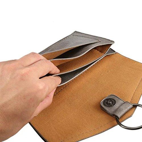 EJBOTH Borsa di Cuoio Donne, Sacchetto di Tote Singolo Sacchetto di Spalla con Tracolla handbag Per Contenere telefono Cellulare, Contanti, Carte di credito, Cosmetici, Ecc. [Grigio] Grigio
